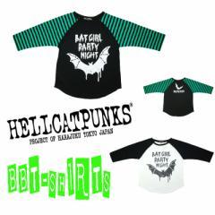 HELLCATPUNKS BAT GIRL ラグランスリーブTシャツ★ロック★パンク★ヴィジュアル★ロリータ★ゴスロリ★衣装