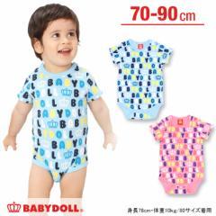 週末限定SALE60%OFF ベビー肌着/総柄(新生児用/半袖ボディスーツ型)-ベビーベビーサイズ新生児ドール 子供服-5729B