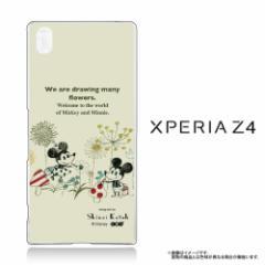 Xperia Z4 (SO-03G SOV31 402SO) 専用 【Disney/ディズニー】 クリアケース「ミッキー&ミニー (お絵かき)」 (Z4-71585)