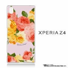 Xperia Z4 SO-03G/SOV31/402SO【DressCamp/ドレスキャンプ】 「Rose Pink」 花柄/バラ/フラワー クリアケース (Z4-71635)