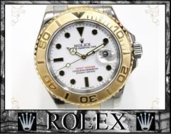 ★ロレックス ヨットマスター メンズ腕時計 SS×YG 自動巻 白文字盤 D番★