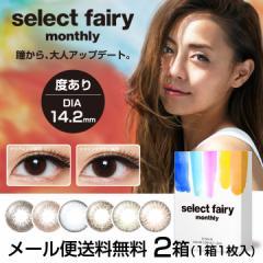 [メール便 送料無料]セレクトフェアリー マンスリー[2箱][1箱1枚入]select fairy カラコン 度あり 1month ブラウン グリーン ブルー