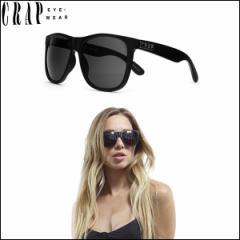 "CRAP EyeWear クラップ サングラス マットフレーム UVカット ""THE NUDIE MAG"" FLAT BLACK-GRY 正規販売店"