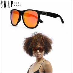 """CRAP EyeWear クラップ サングラス マットフレーム UVカット レッド """"THE BEACH PARTY"""" FLAT BLACK-RED ミラーレンズ 正規販売店"""