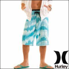 HURLEY サーフパンツ メンズ 水着 ボードショーツ トランクス 海パン TWIST 22インチ ロング丈 ジム フィットネス ブルー