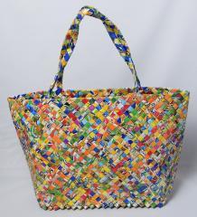 【手編みバッグ】 Kilus ジュースバッグ 肩掛け バッグ 手作り 手編み オープン型 マルチカラー