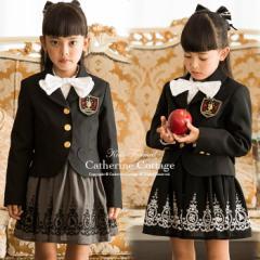 【卒業式 入学式 女の子】子供スーツ アリス柄スーツ3点セット  10 120 130 140 150 160 165 cm TK1086