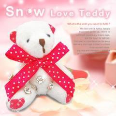 ☆7つのクリスタルが導く奇跡☆恋愛成就【スノウラブ テディ -Snow Love Teddy-】