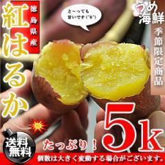 とっても甘い♪徳島県産 べにはるか 5kg/送料無料/紅春香/さつまいも/いも