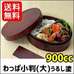 【送料無料】 曲げわっぱ 弁当箱 小判弁当箱(大) うるし塗 001-213