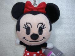香港ディズニーランドのミニーのぬいぐるみキーホルダー