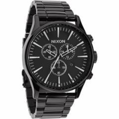 NIXON ニクソン 腕時計 メンズ Sentry Chrono All Black A386-001 A386001