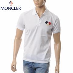 MONCLER モンクレール ポロシャツ メンズ 半袖 8318800 84673 ホワイト