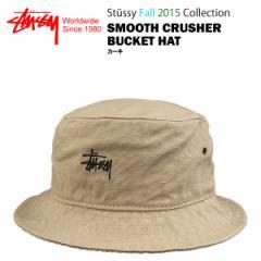 ステューシー スムース クラッシャー バケットハット カーキ (STUSSY SMOOTH CRUSHER BUCKET HAT)