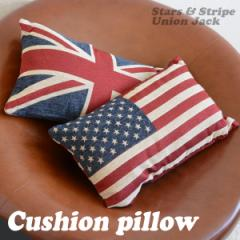 クッションピロー UK USA アメリカ国旗 イギリス国旗 50×30cm おしゃれ かわいい クッションカバー インテリア
