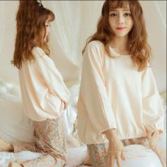 即納1999円送料無料!レディース可愛いパジャマ部屋着 寝間着 上下セットナイトウェア ルームウェア 柔らかい綿