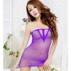 ◆セクシー ランジェリー◆スリークフィッシュネットボディ GB-193 色:パープル サイズ:M 【お取り寄せ】
