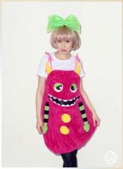 ピンクモンスターガール もこもこ 怪獣 新作 レディース 双子コーデ コスプレ コスチューム 衣装 仮装 ハロウィン パーティー イベント