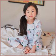 子供服 キッズ 子供 ルームウェア 寝巻き 上下セット 長袖 部屋着 シンプル かわいい パジャマ  kd1690