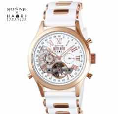 ゾンネ × ハオリ SONNE HAORI PRODUCED H003PG-WH メンズ 腕時計  自動巻き リストウォッチ 岩城滉一