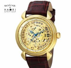ゾンネ × ハオリ SONNE HAORI PRODUCED H009YG メンズ 腕時計  自動巻き リストウォッチ 岩城滉一