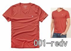 アバクロ Tシャツ 半袖 メンズ 無地 Uネック Vネック 124-allb 正規 abercrombie & fitch アバクロンビー&フィッチ