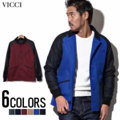 [SALE]VICCI【ビッチ】メルトンウールラグランスタジアム ジャケット /全6色 trend_d メンズ ビター系