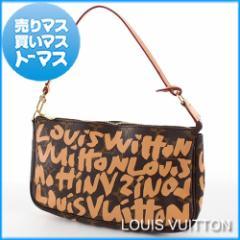 ルイ・ヴィトン モノグラム・グラフィティ ポシェット・アクセソワール ハンドバッグ パーティー アクセサリーポーチ M92193 ピーチ 鞄