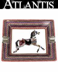 銀座 極美品 エルメス 灰皿 アッシュトレイ 馬柄 陶器