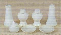 神道専科:神具(内祭用) NO.232 ●セトモノセット・中 4寸 税抜¥3500円