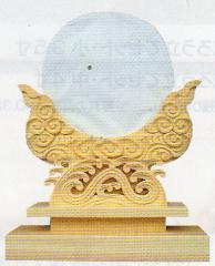 神道専科:神具(内祭用) NO. ●大型神鏡 (ひのき) お問い合わせください。(写真の商品は8寸です。