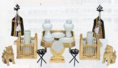 神道専科:神具(内祭用) NO.358 ●神具セット・A 4寸 税抜¥49000円