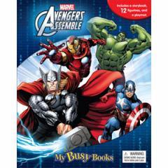 (英語版)海外書籍 「Marvel Avengers Assemble:My Busy Books(アベンジャーズ マイ ビジーブック)」 (本+ミニフィギュア12種)