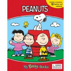 (英語版)海外書籍 「Peanuts:My Busy Books(スヌーピー マイ ビジーブック)」 (本+ミニフィギュア12種)