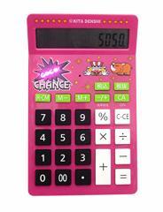 【送料無料】 ジャグラー GOGO!CHANCE サウンド&フラッシュ電卓 [ピンク] パチスロ スロット キャラクター グッズ