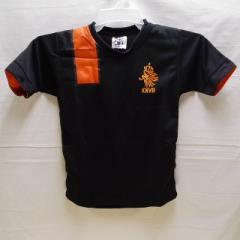 子供用 K121 オランダ 黒OR 14 ゲームシャツ パンツ付/選手選択/スナイデル/サッカー/キッズ/上下セット