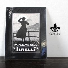 [あす着]アンティーク 広告 ポスター ピレリタイヤ レインコート 1928年 イタリア製 雑貨 PIRELLI ca03