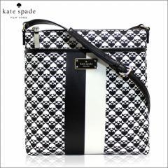 [あす着]ケイトスペード KATE SPADE バッグ ショルダーバッグ PVC レザー ブラック ホワイトwkru3631-001