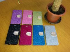 送料込み! iPhone6 用『キラキラ★ラメラメ』手帳型 ケース 選べる7色 iPhone アイフォン 簡易梱包料金値下げ!
