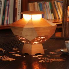 『木製ゆらぎ照明「きんぎょ」』 選べる2色 1/fゆらぎ照明 癒しの灯 北のらっちゃこ