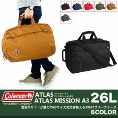 Coleman(コールマン) ATLAS(アトラス) ATLAS MISSION A3 ビジネスバッグ ショルダーバッグ リュック 3WAY メンズ 送料無料 ポイント10倍