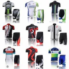 GIANT SCOTT ORICA  TREK  サイクルジャージ上下セット/男性用自転車サイクルウェア半袖/夏上下セット9種類普通タイプ