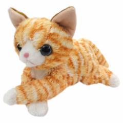 【いっしょがいいね 猫 ビーンズぬいぐるみ トラ猫】くたくたで自由にポーズがとれるよ