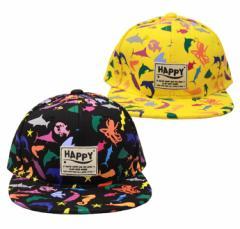 【KIDSサイズ】お魚プリントBBキャップ 子供 キッズ 帽子