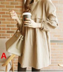 マタニティウェア 服 ワンピース   マタニティ 授乳ワンピース  長袖 妊婦服 授乳口付き P066