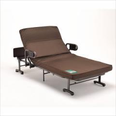 収納式 リクライニングベッド(ダブルギア) AX-BG557■介護ベッド 折り畳みベッド 収納ベッド