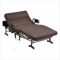 収納式 電動リクライニングベッド(Wファンクション) 1モーター AX-BE634N■介護ベッド 折り畳みベッド 収納ベッド