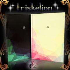 """【triskelion -トリスケリオン- /開運手帳】/lck/願いを書き込むだけの""""開運手帳"""""""