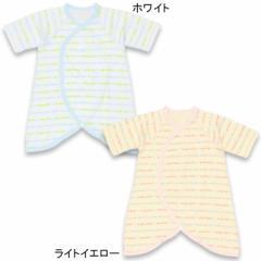 NEW MY FIRST BABYDOLL_ロゴラインコンビ肌着/日本製_綿100%-ベビーサイズ 新生児 ベビードール 子供服-6929