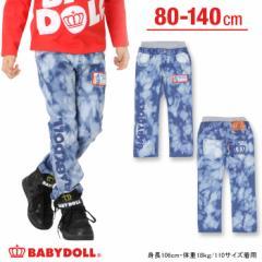 SALE50%OFF アウトレット BDJ_SURFワッペンデニムロングパンツ ベビーサイズ キッズ ベビードールジーンズ 子供服-7593K